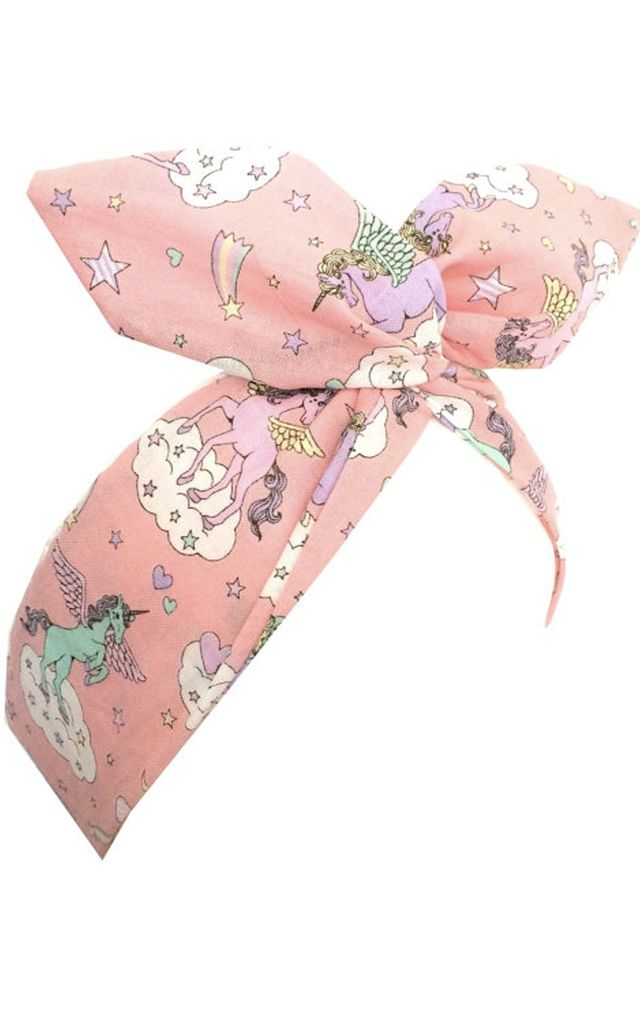 Pink Unicorn Wired Headband by LULU IN THE SKY