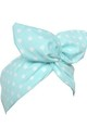 Mint Polka Dot Wired Headband by LULU IN THE SKY