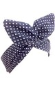 Navy and White Small Polka Dot Wired Headband by LULU IN THE SKY