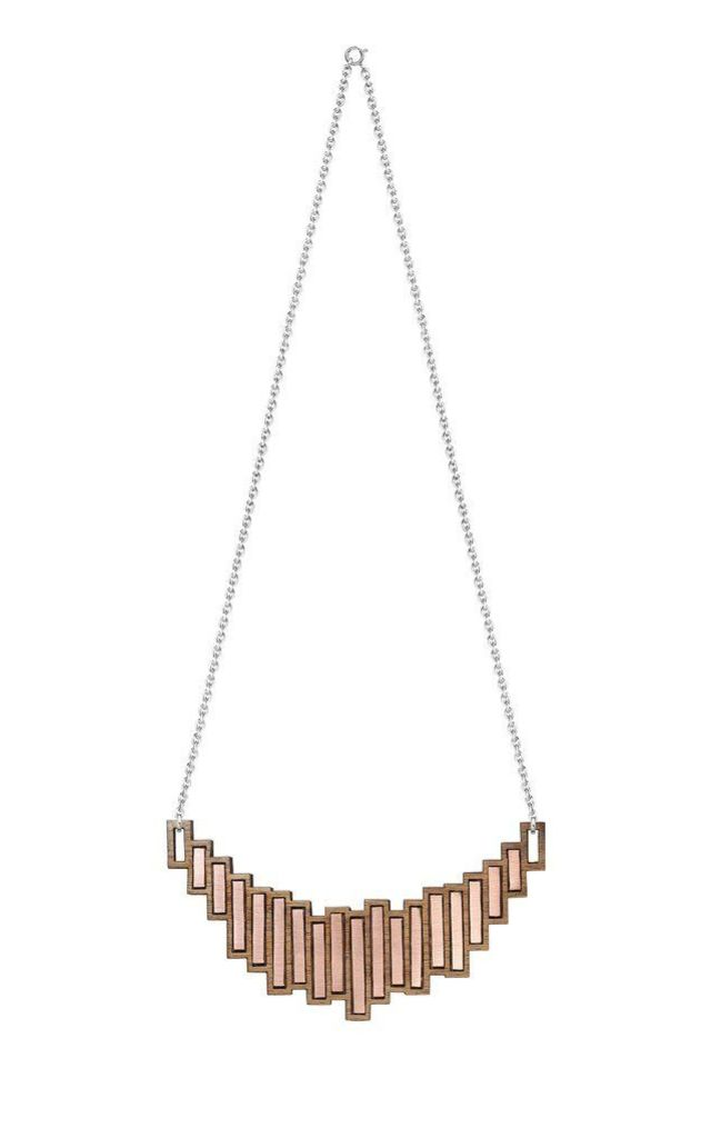 Stella Walnut Silver & Copper Necklace by Form London