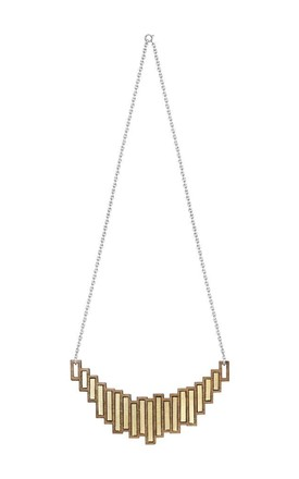 Stella Walnut Silver & Brass Necklace by Form London