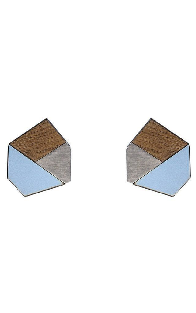 Gwen Statement Studs Peaceful Blue by Form London