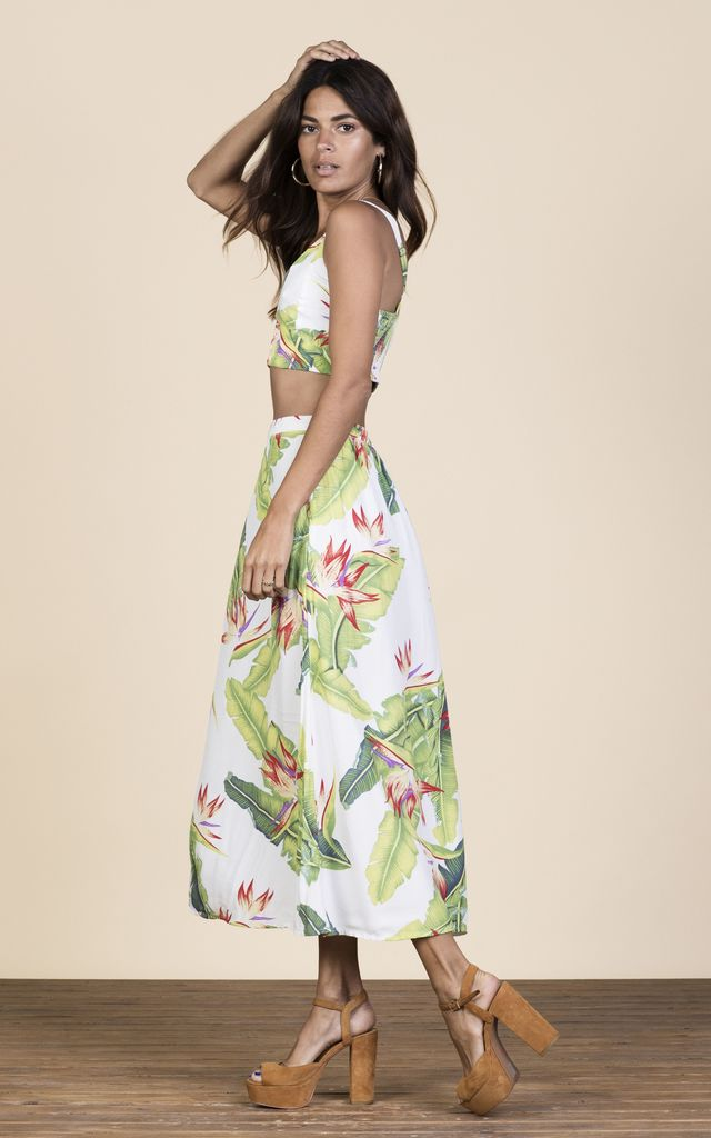 Ariel Skirt in White Banana Leaf image