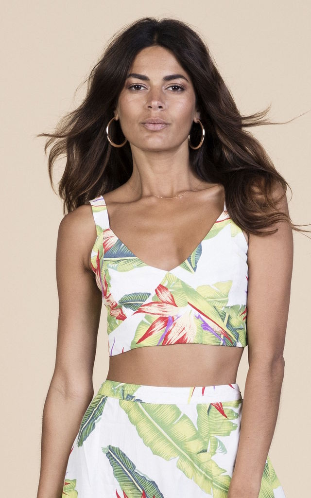 Mimi Top in White Banana Leaf image