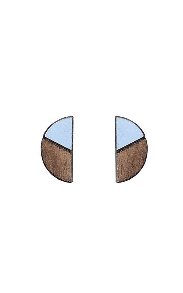 Natalia studs in peaceful blue by Form London