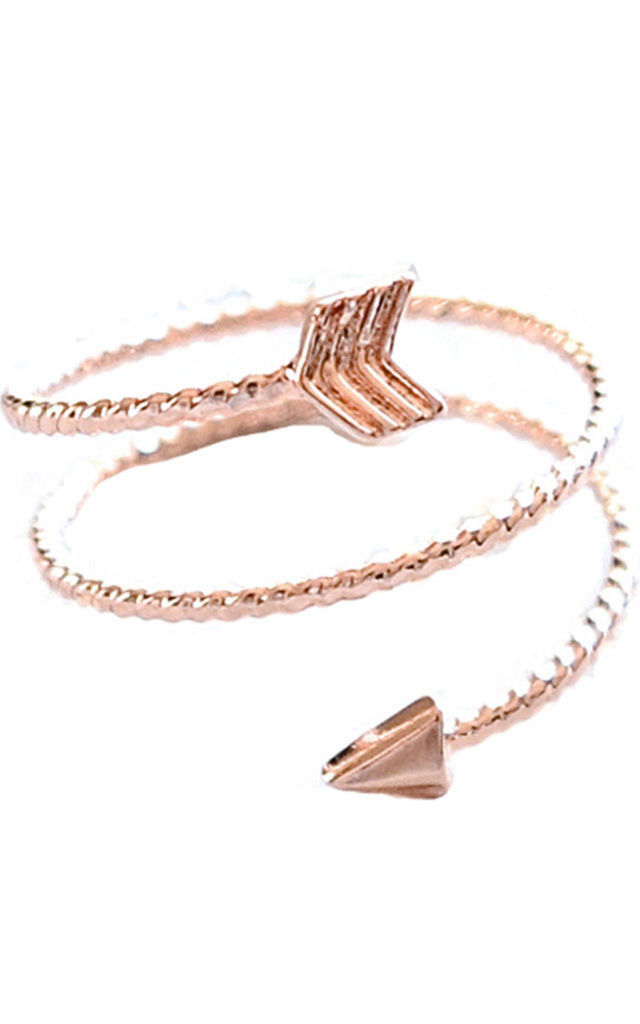 Rose Gold Arrow Ring by Kate Canning Jewellery