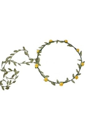 Yellow Rose Dainty Flower Crown - Garland by LULU IN THE SKY