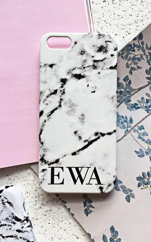 Marble monogram phone case by Rianna Phillips