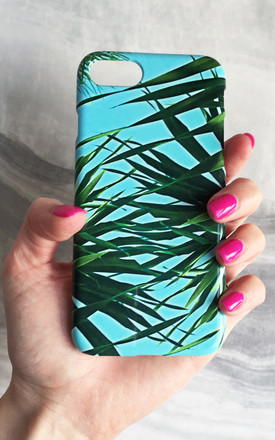 Kuta palm leaf print phone case by Rianna Phillips