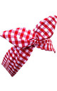 Red And White Gingham Wired Headband by LULU IN THE SKY