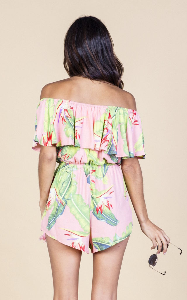 Zola Playsuit in Pink Banana image