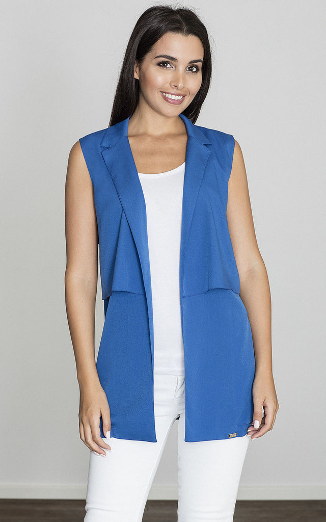 Blue Waistcoat with Collar by FIGL