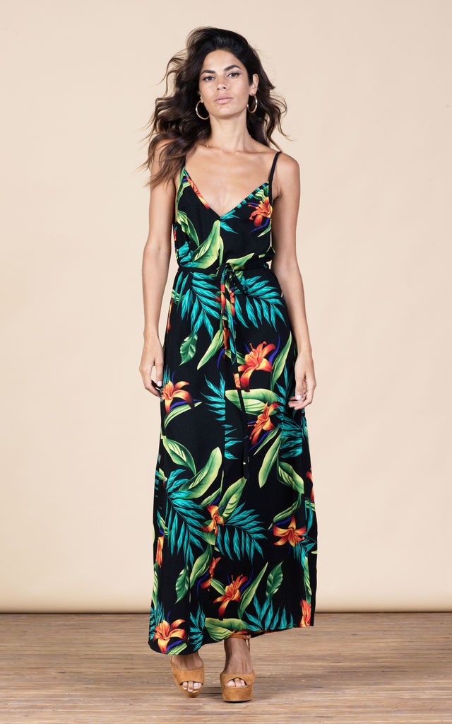 Giselle Maxi in Black Tropical image