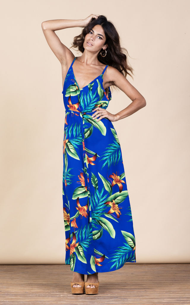 Giselle Maxi in Blue Tropical image