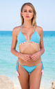 Turquoise Handmade Crochet Bikini by Crochini