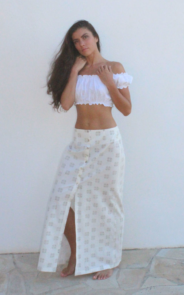 Geometric Maxi Skirt by I See You
