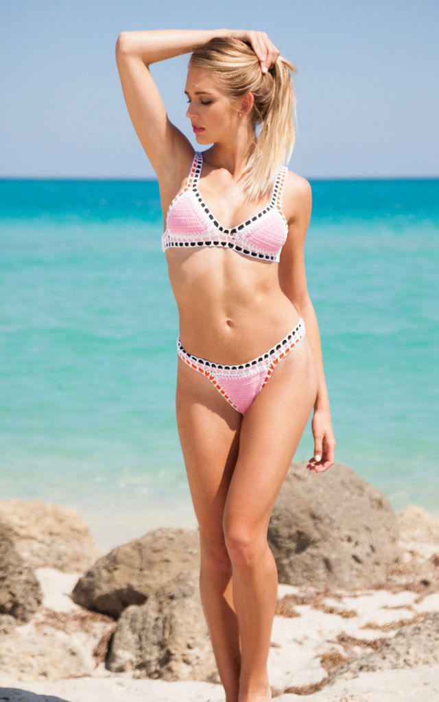 Pink Handmade Crochet Bikini by Crochini