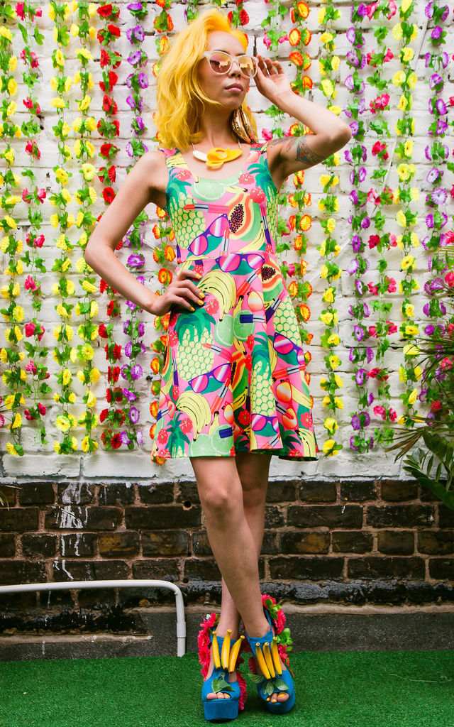Fruity Patootie Skater Dress by Dazzle & Jolt