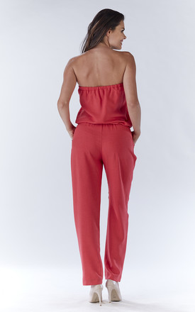 Fuchsia Sexy Jumpsuit With Straight Legs by AWAMA