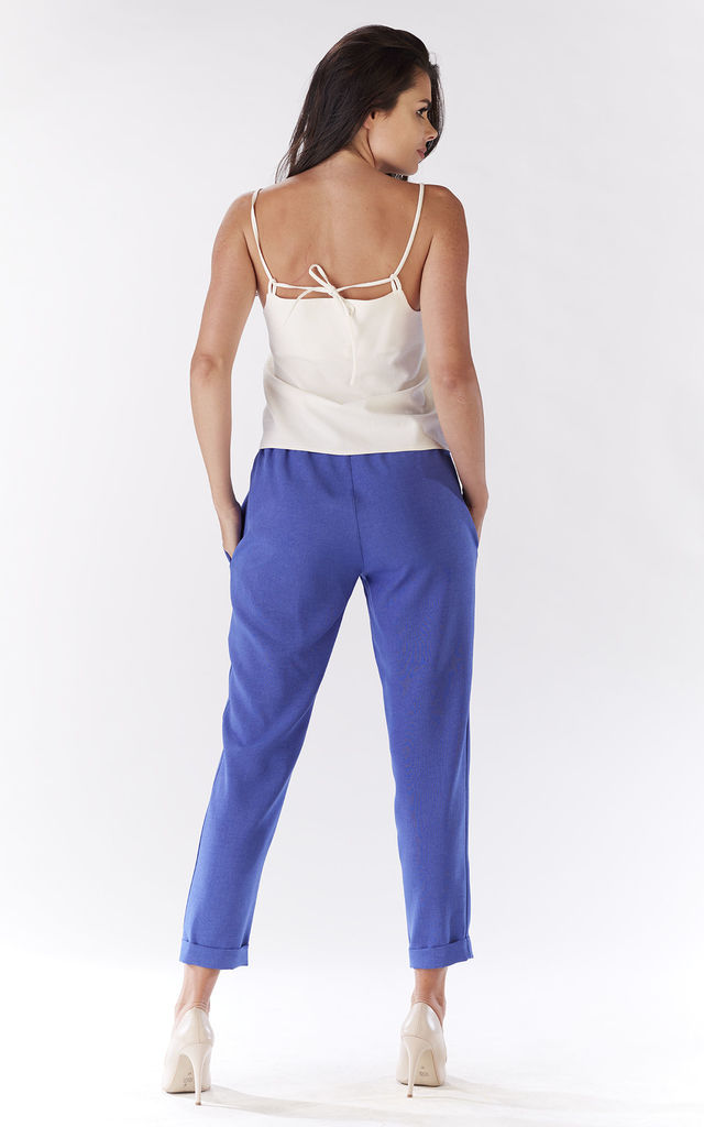 Blue Loose Pants For Summer by AWAMA