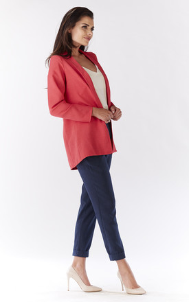 Pink Comfortable Jacket With Long Sleeves by AWAMA