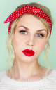 Red with White Polka Dot Wired Headband by LULU IN THE SKY