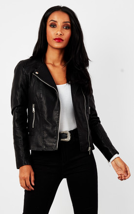 Black Short Pu Jacket by VM Product photo