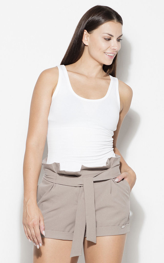 Mocca High Waist Shorts with Belt by KATRUS