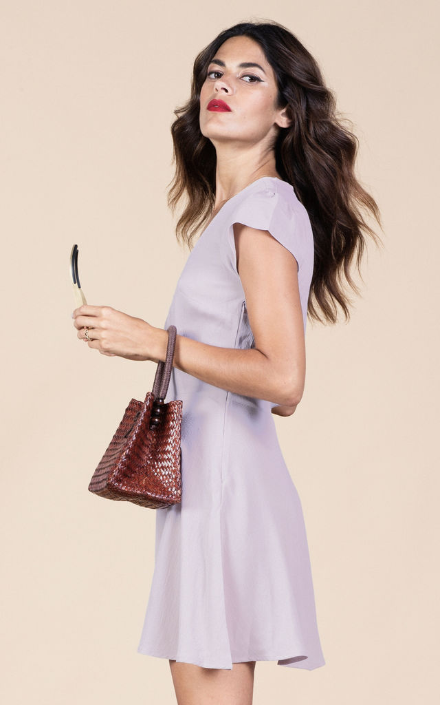 Heidi Dress in Mauve image
