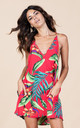 Samba Dress in Red Tropical by Dancing Leopard