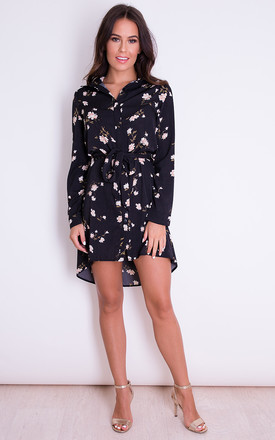 Mary Floral Shirt Dress by Girl In Mind