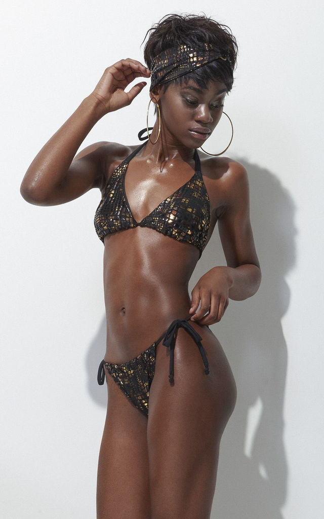 Leopard Metallic Bikini by Rosie Billington
