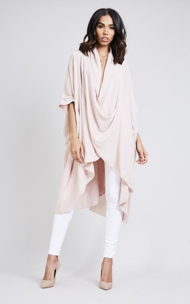 Pink Cotton Crossover Top by Black Lilly