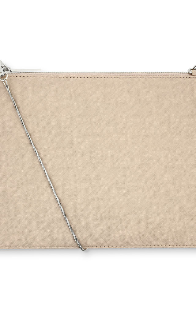 Nude Mono Clutch Bag by Johnny Loves Rosie
