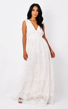 Ivory Lace Maxi Dress by True Decadence Product photo