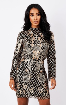 Royal Embroidered Mini Dress by MAIWOOD Boutique