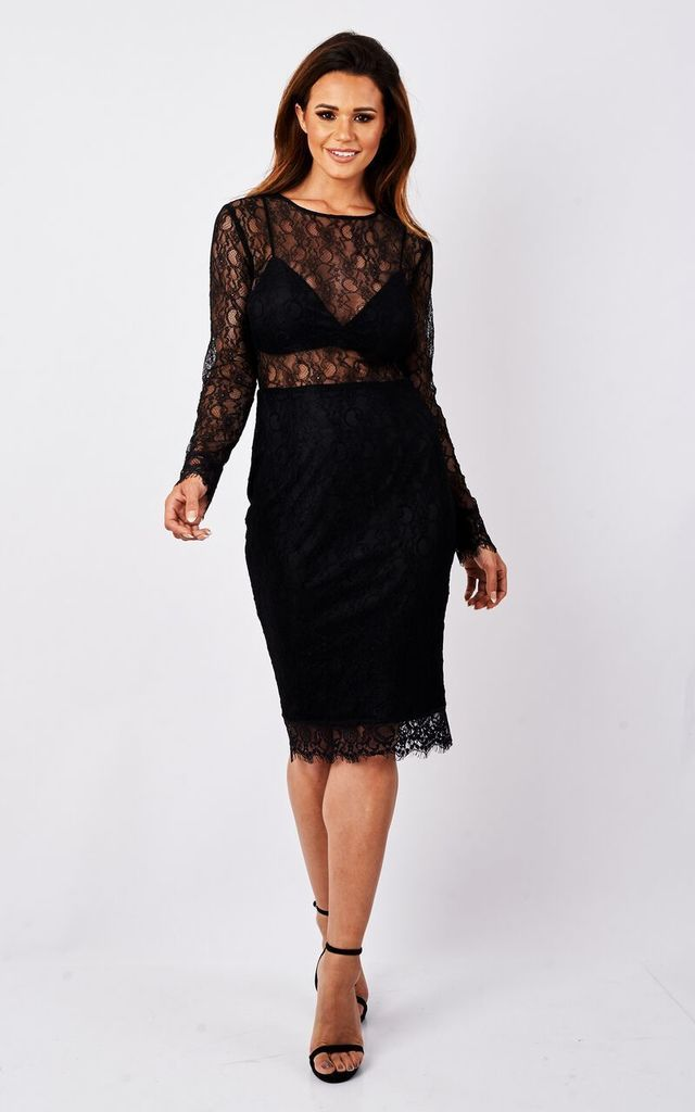 Laced Up Midi Dress by MAIWOOD Boutique
