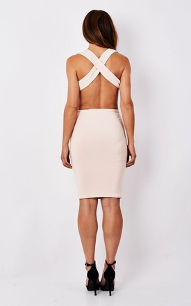 Bare Nude Deep Cut Midi by MAIWOOD Boutique