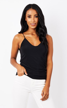 Black Kortney Low Back Cami Top by Pleat Boutique