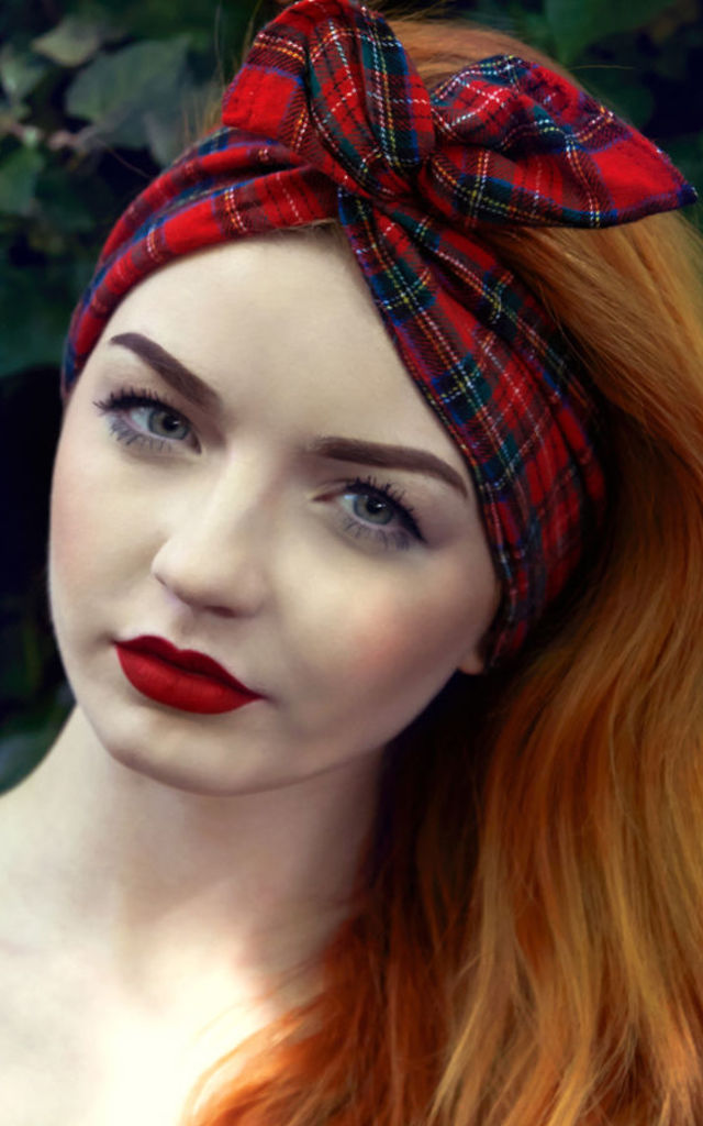 Red Tartan Dolly Bow by Stephanieverafter
