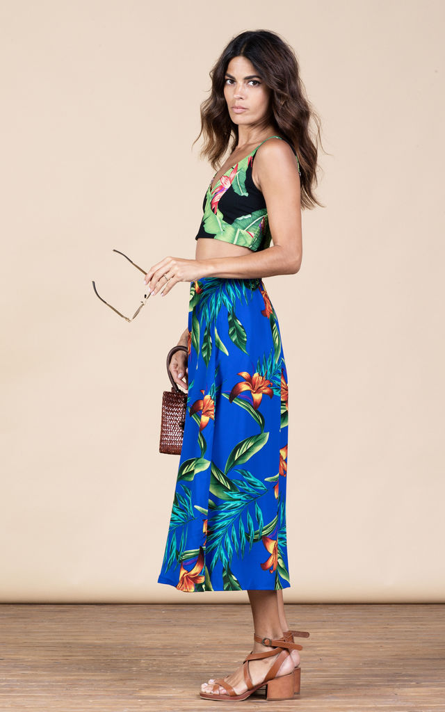 Ariel Skirt in Blue Tropical image