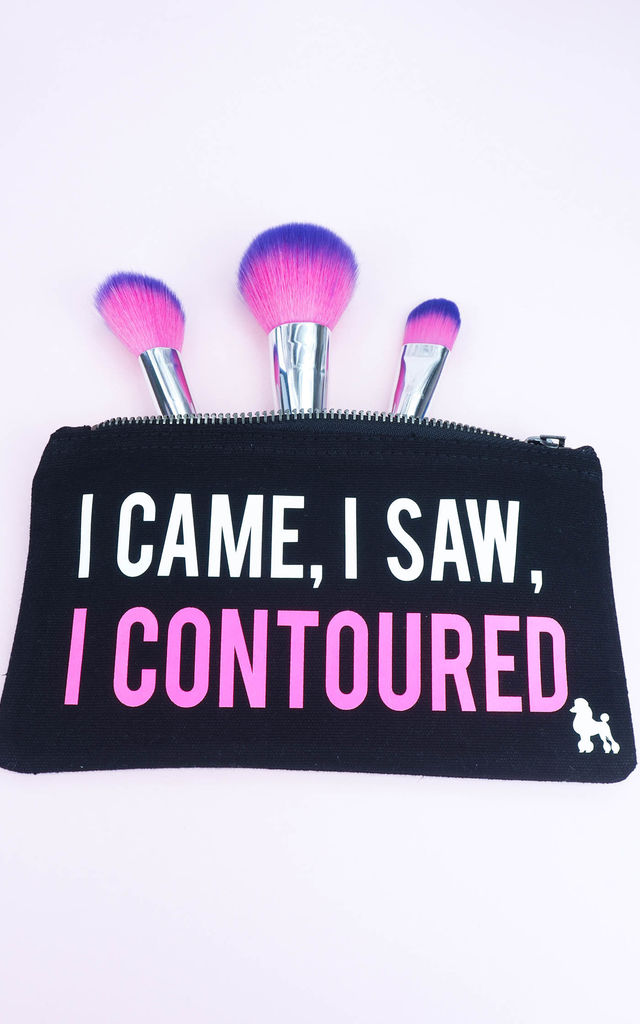 I Came I Saw I Contoured Make Up Bag by Rock On Ruby