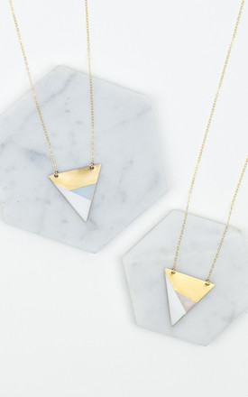 Three Colour Triangle Necklace by Fawn And Rose