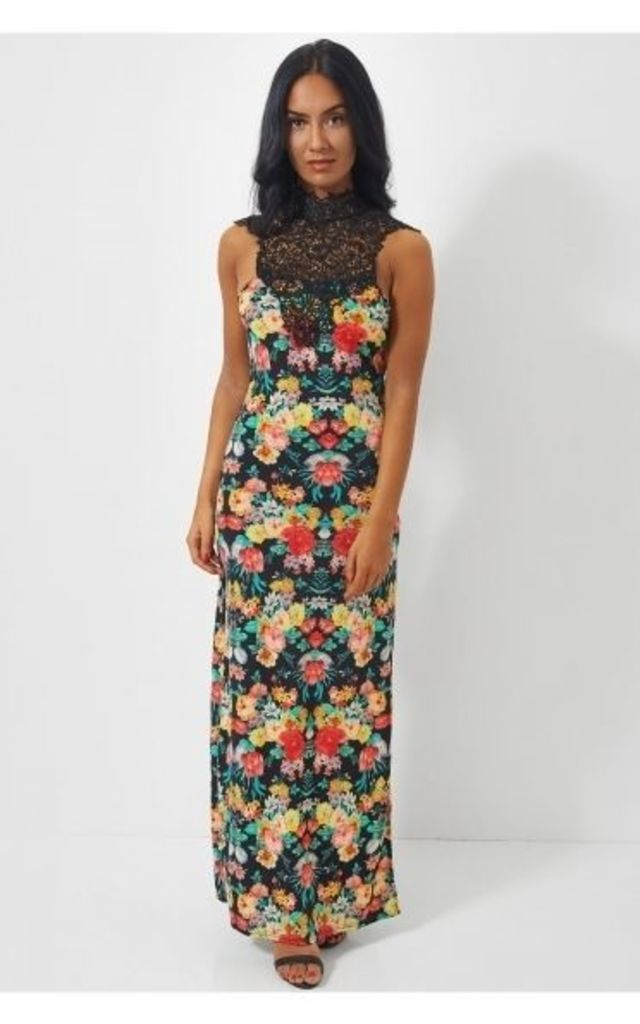 Daya Floral Lace Maxi Dress by The Fashion Bible