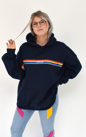 G&G Rainbow Ribbon Navy Hoodie by Goose & Gander Product photo