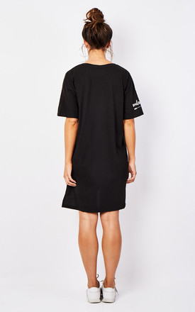Soulsister T shirt Dress - Black by Rock On Ruby