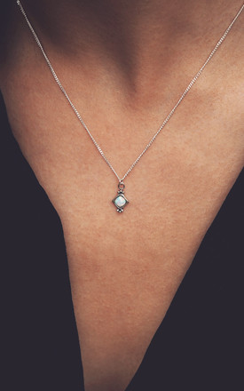 SELENA. White Opal Sterling Silver Pendant Necklace by Aluna Mae