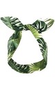 Tropical Palm Leaf Wired Headband by LULU IN THE SKY