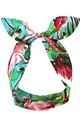 Tropical Flamingo Print Wired Headband by LULU IN THE SKY