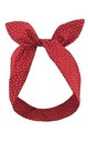 Red With White Mini Star Wired Headband by LULU IN THE SKY